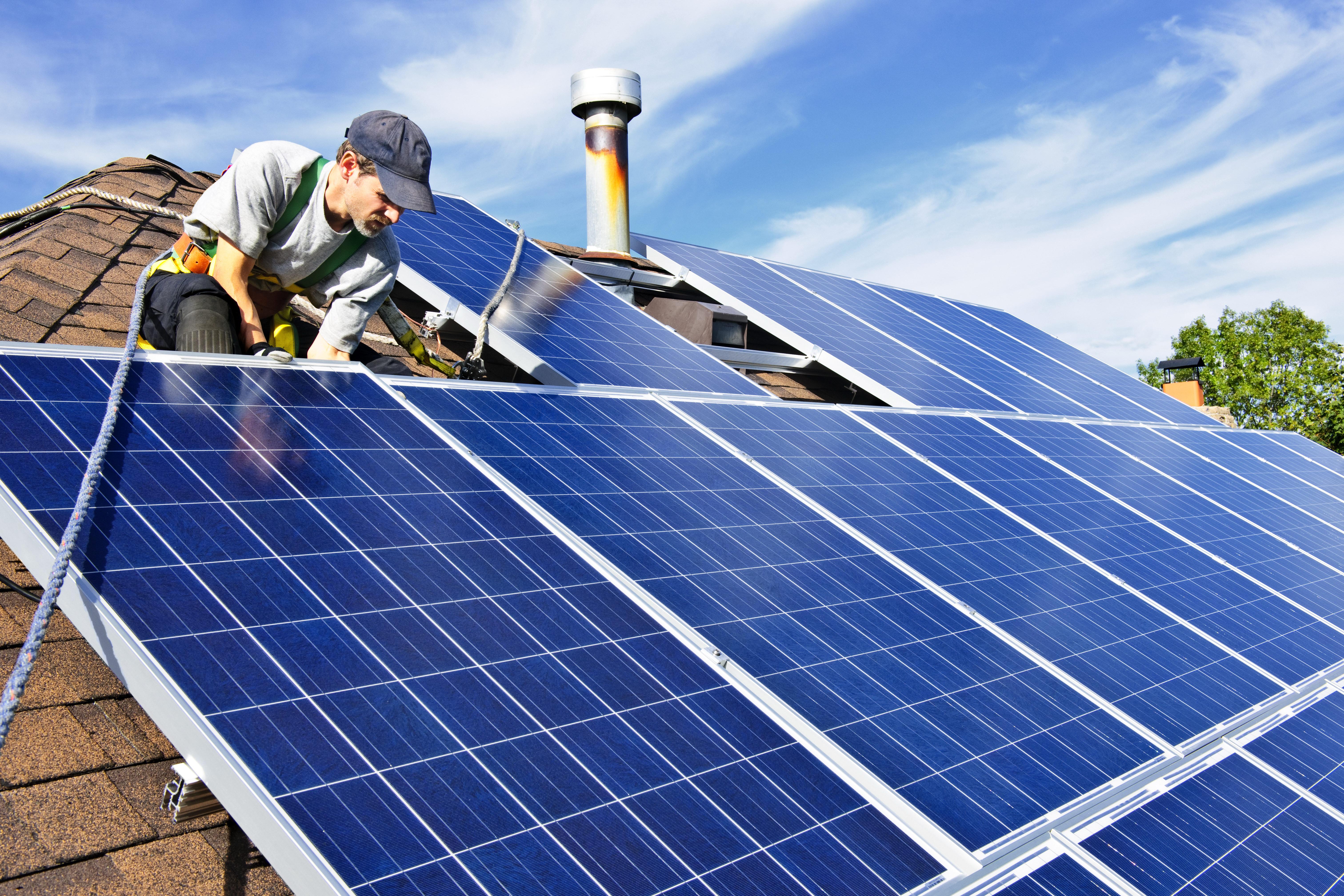 Солнечные батареи установка
