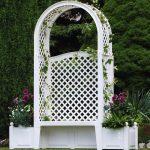 Фото 62: Пластиковая пергола - арка со камьёй