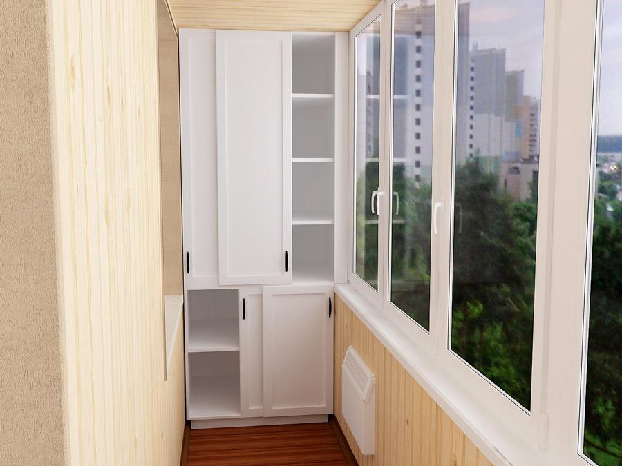 Встроенный шкаф на балкон