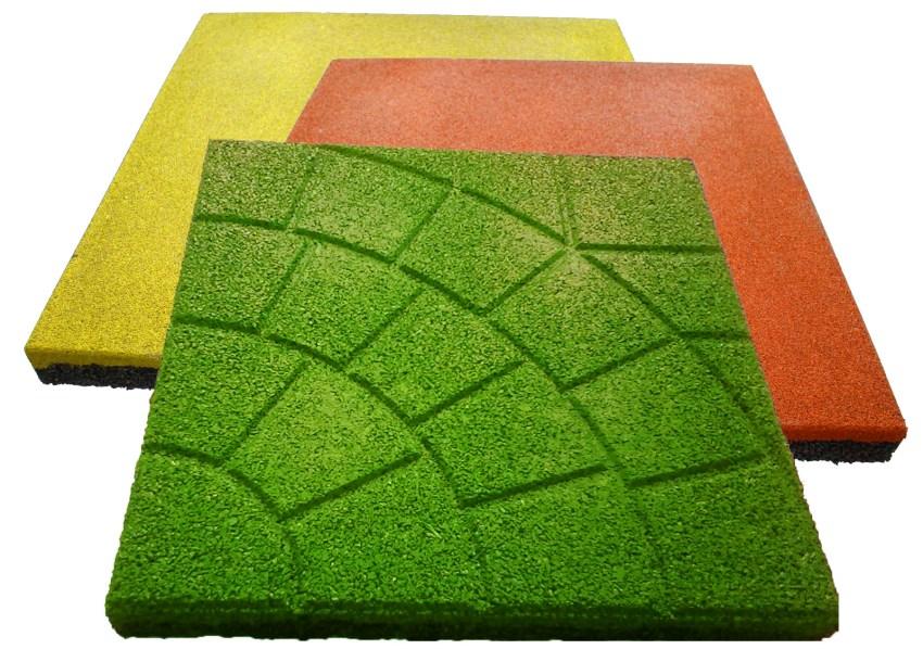 Расцветки резиновой плитки