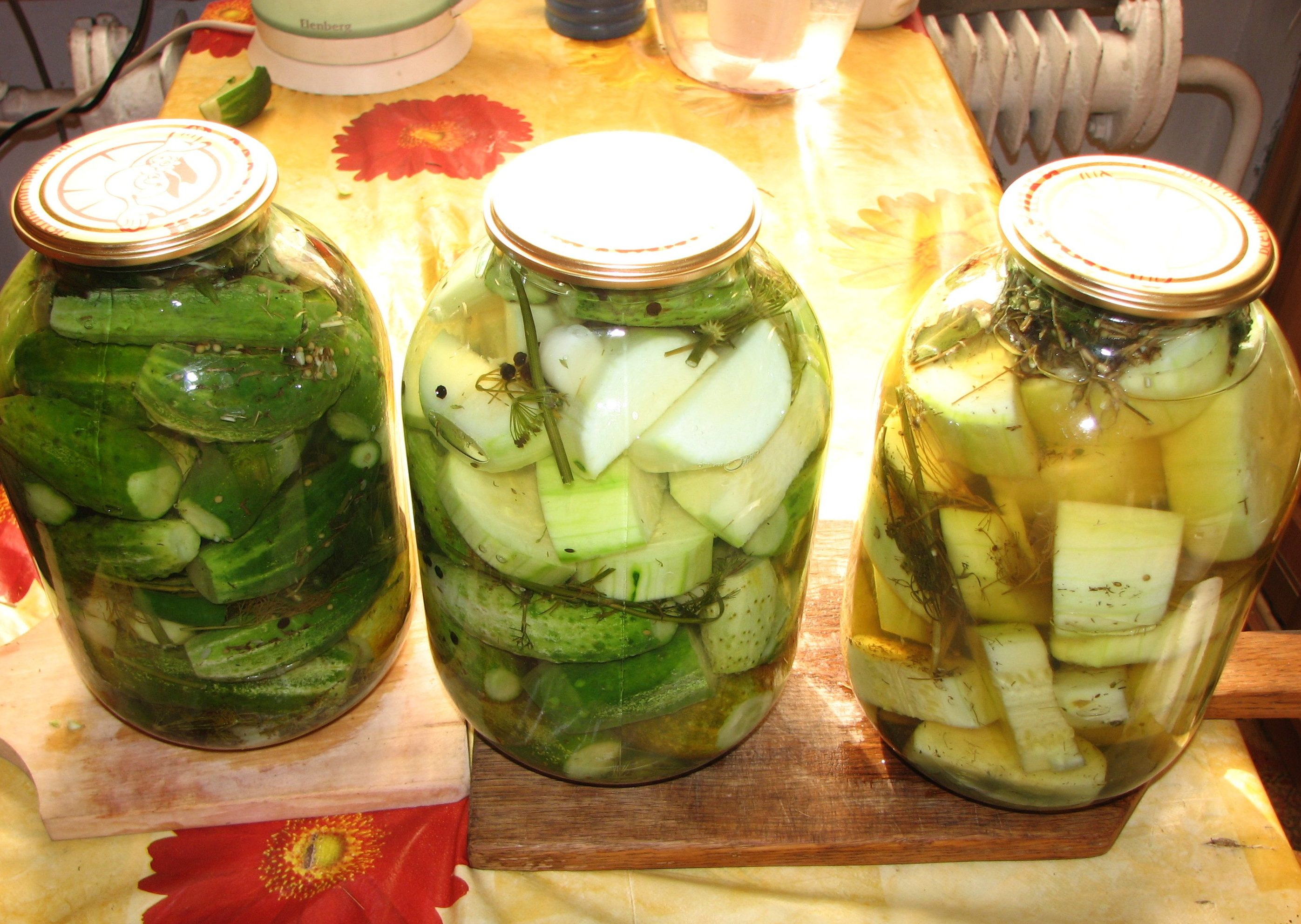 Рецепт маринования кабачков