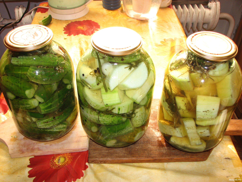Кабачки огурцы салат на зиму рецепты
