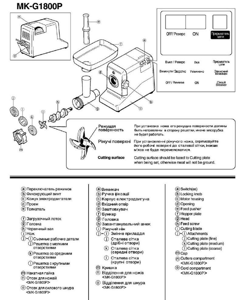 Конструкция Panasonic MK-G1800