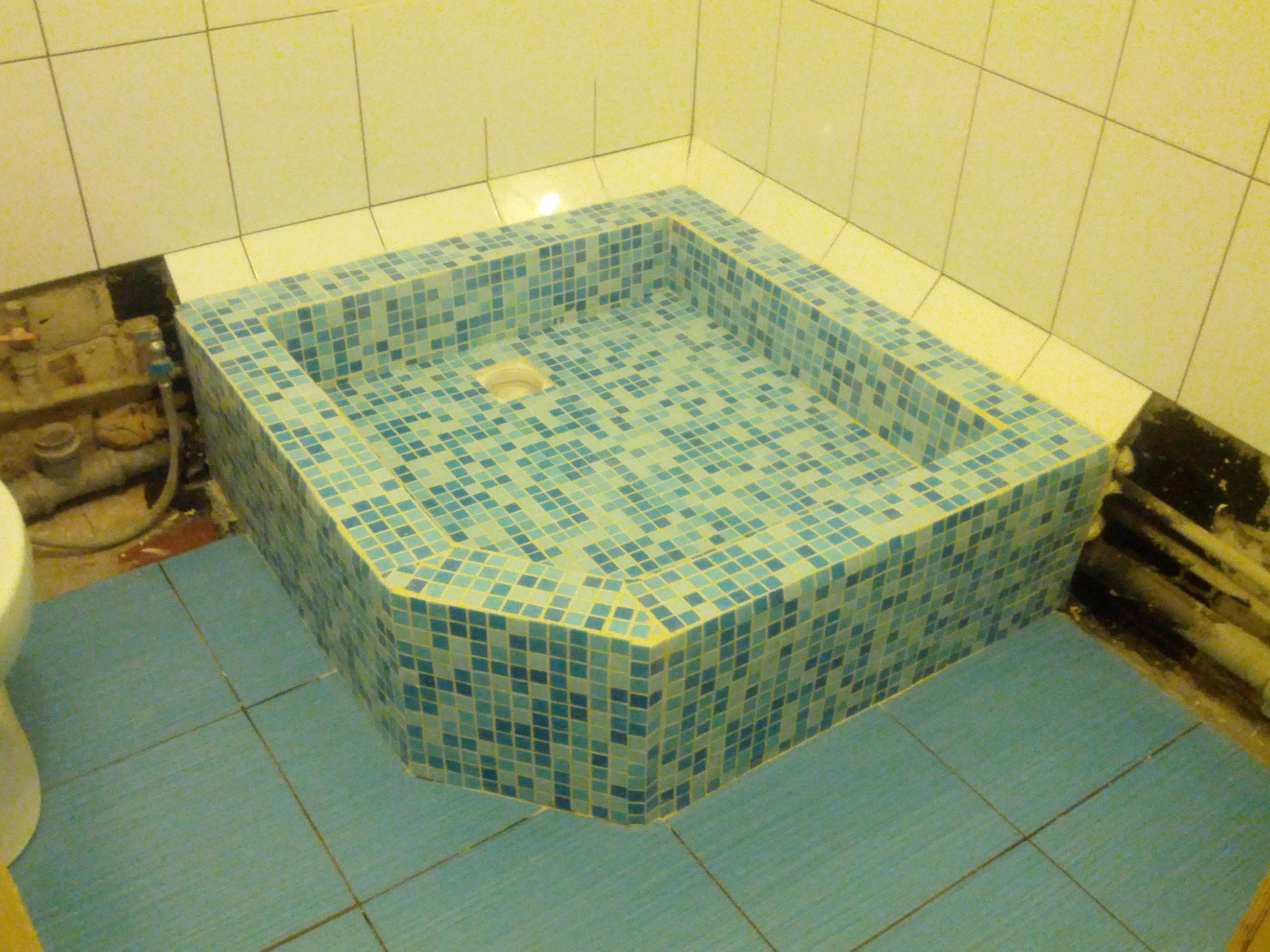Поддон в ванной своими руками