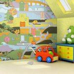 Фото 82: Фотобои в детскую игровые в виде города