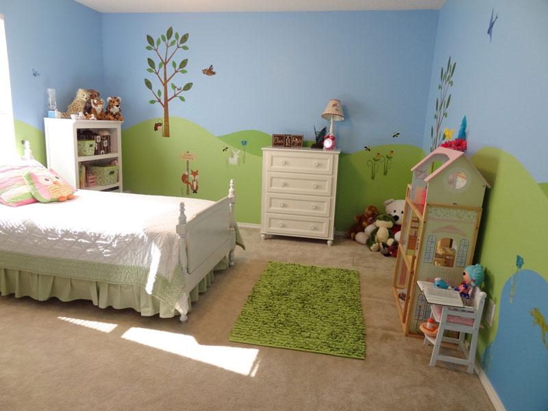 Фотообои в детскую комнату для девочек