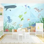 Фото 92: Фотобои Подводный мир в детской