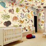 Фото 13: Фотообои в детской с буквами и животными
