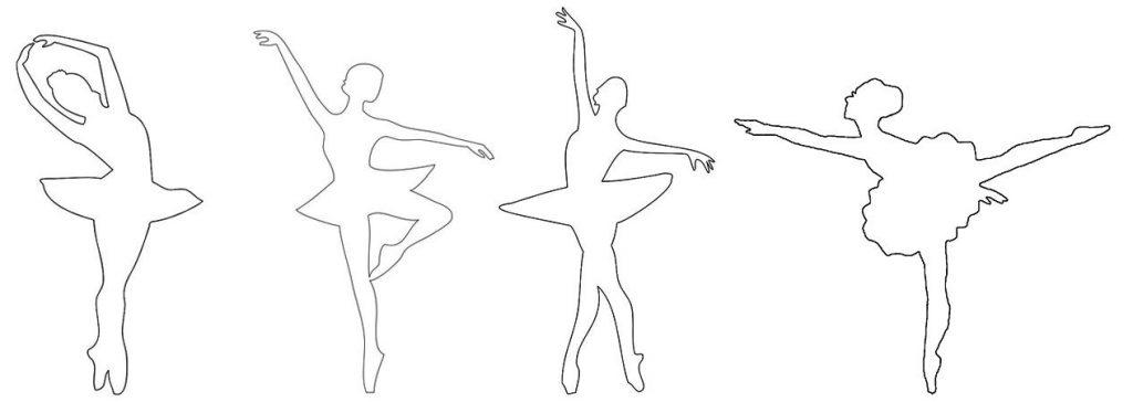 Шаблоны балерин