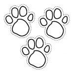 Фото 90: Шаблон собачьих следов