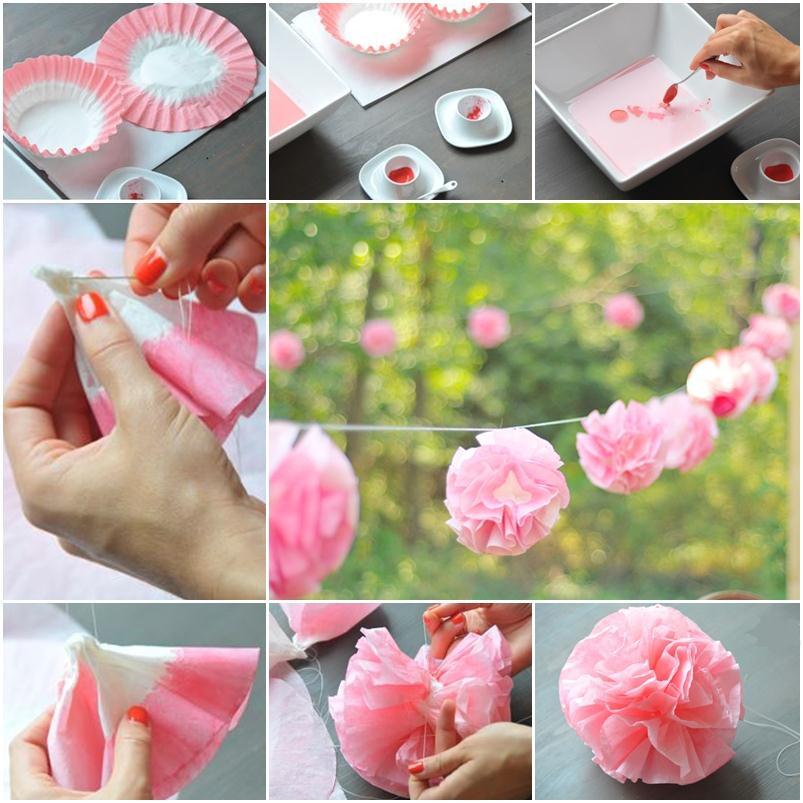 Гирлянда из бумажных шаров