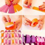 Фото 21: Простые гирлянды из цветой бумаги