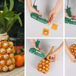 Фото 33: Отделка шампанского конфетами и бумагой под ананас