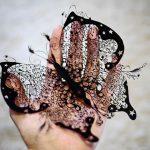 Фото 40: Ажуурная черная бабочка вытынанка