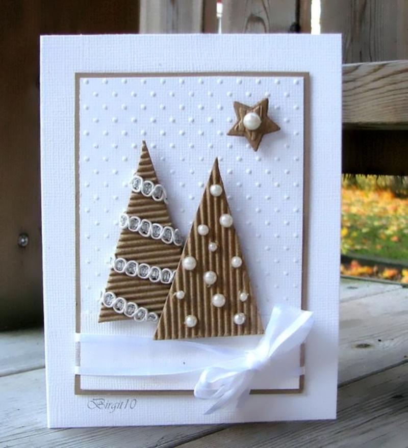 Оформление открытки бусинами