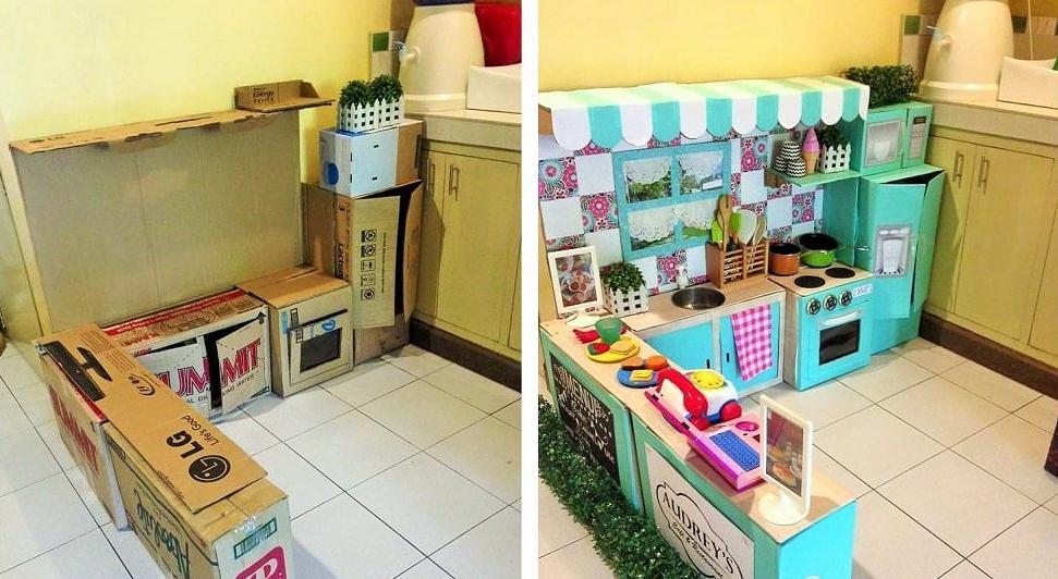мебель из картонных коробок