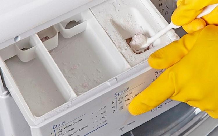 Чистка лотка стиральной машины