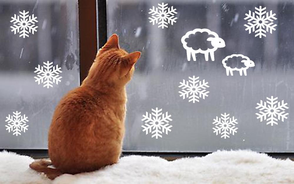Новогодние трафареты на окно