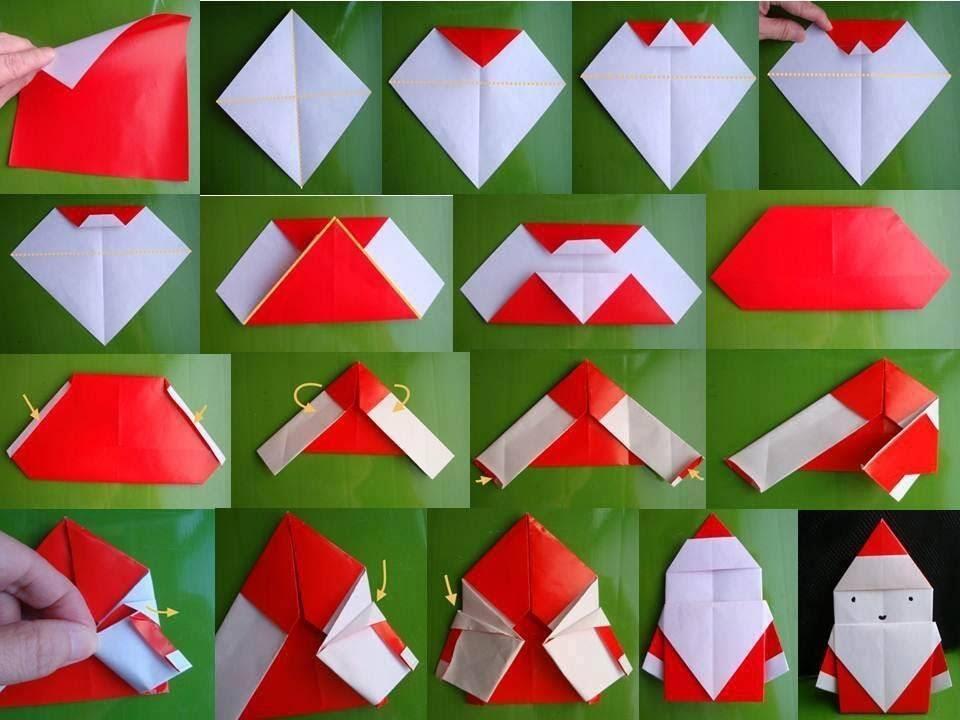 Изготовление Деда Мороза в технике оригами