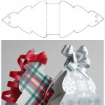 Фото 28: Выкройка новогодней упаковки в виде елочки из бумаги
