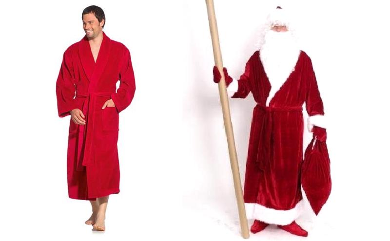 Халат Деда Мороза из обычного халата