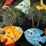 Фото 30: Раскрашенные игрушки из соленого теста на елку