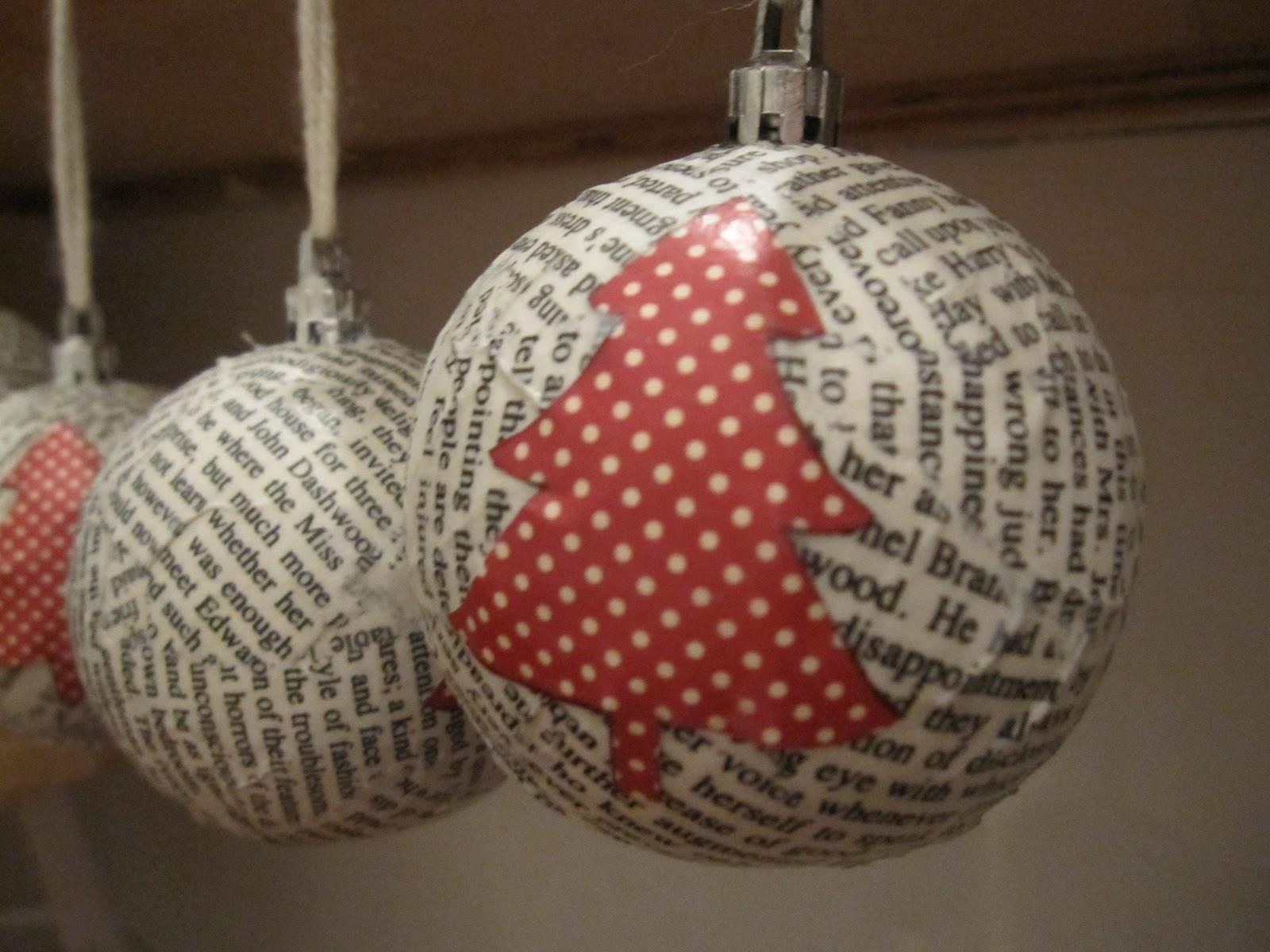 Новогодний шар из папье-маше