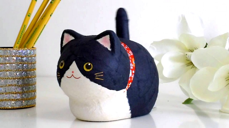 Как сделать игрушку для котёнка из бумаги