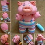 Фото 30: Изготовление свинки из носка