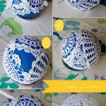 Фото 43: Елочный шарик из салфеток своими руками