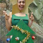 Фото 44: Костюм елочки из платья и картона