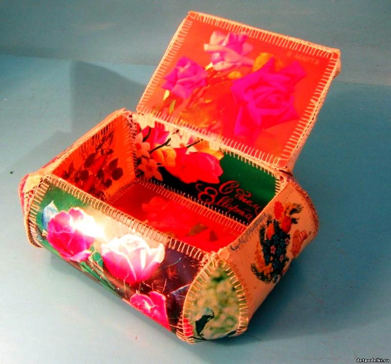 Как сделать подарок из открыток своими руками