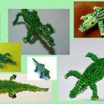 Фото 57: Крокодилы из бисера