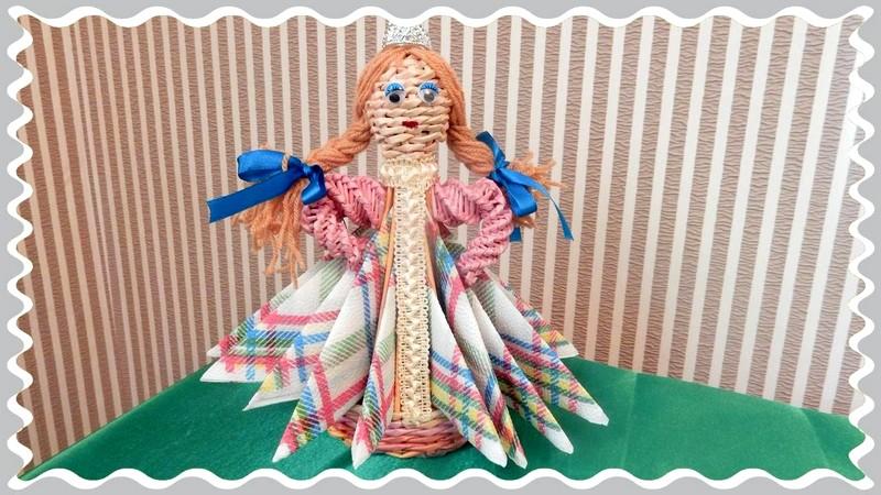 кукла из салфеток