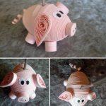 Фото 84: Свинка в технике квиллинг