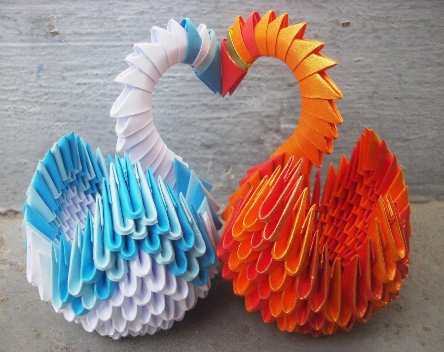 Такой вид поделок называется модульным оригами