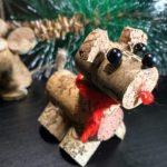 Фото 62: Собачка из винных пробок на елку