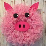 Фото 32: Свинка из мочалки
