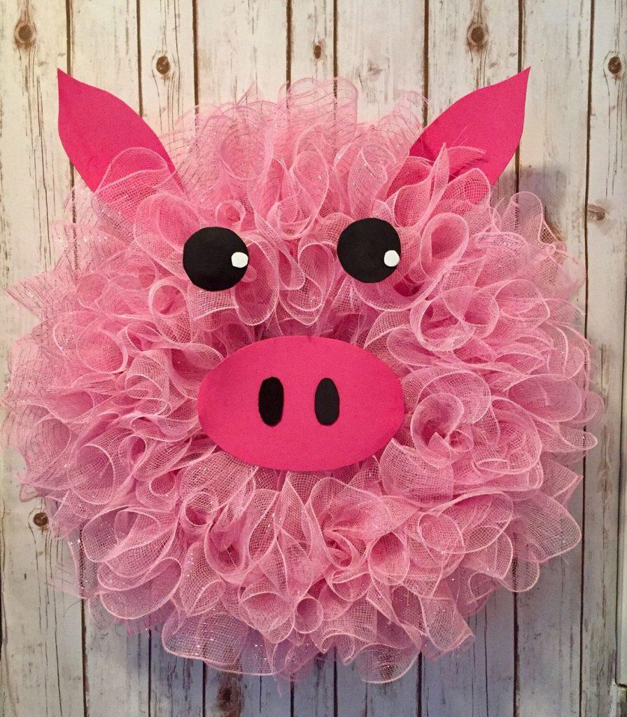 Свинка из мочалки