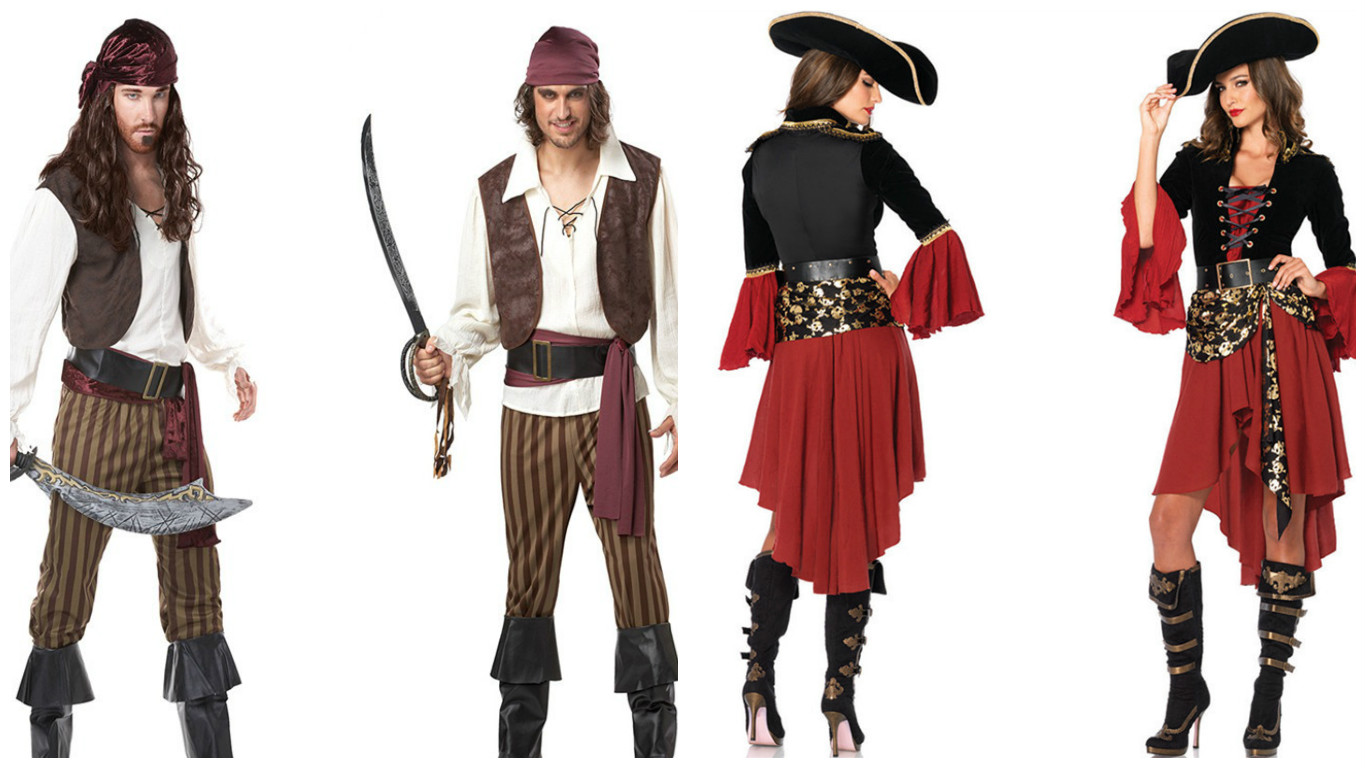 Костюмы разбойников-пиратов для мужчин и женщин