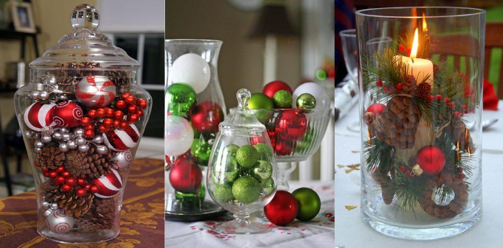 Новогодние композиции в вазах