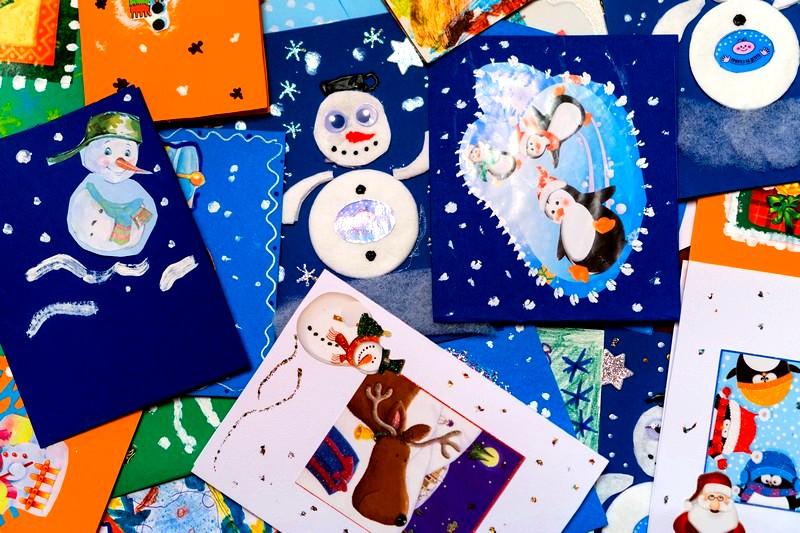 Поздравительные новогодние открытки своими руками