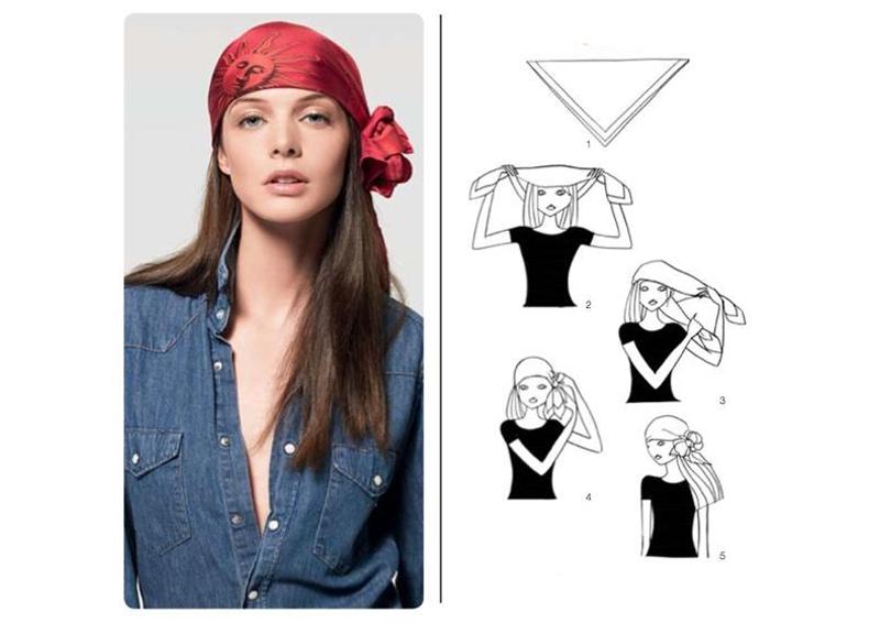 Завязывание платка пирата