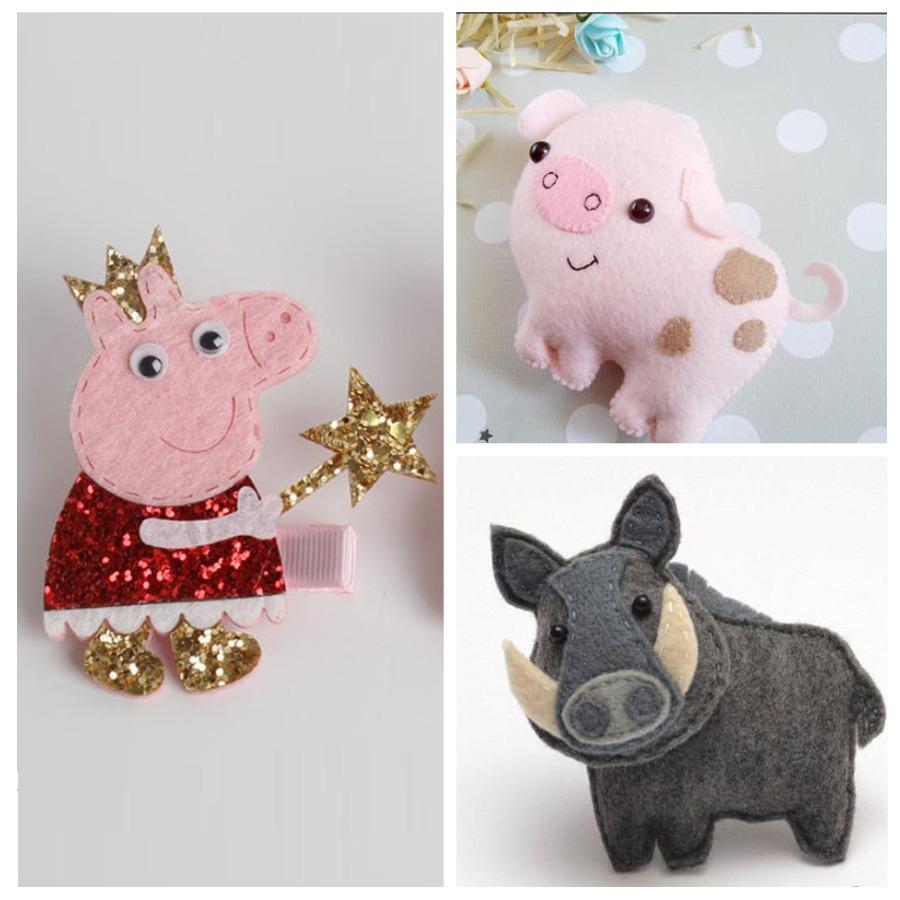 Различные свинки из фетра