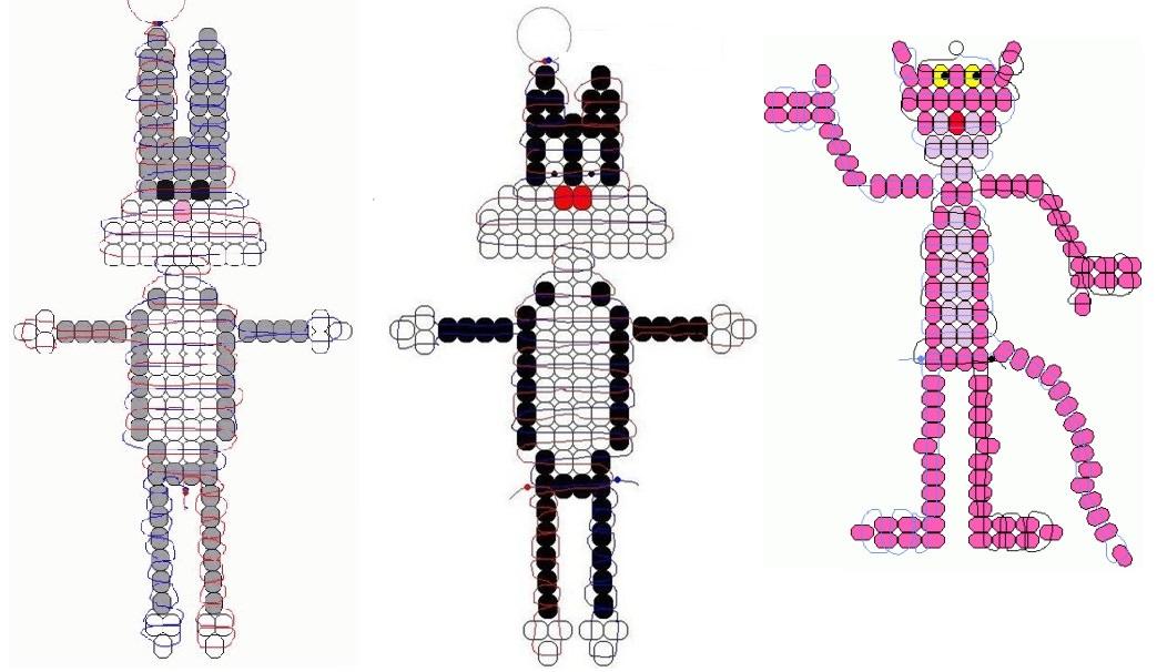 Схема плетение из бисера браслет без станка