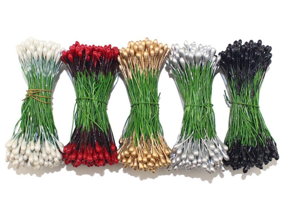 Тычинки для цветка можно купить или изготовить самостоятельно