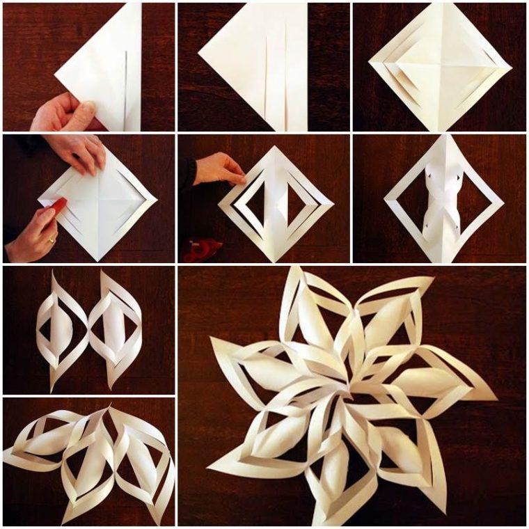 Поделки из бумаги своими руками снежинки объёмные 16