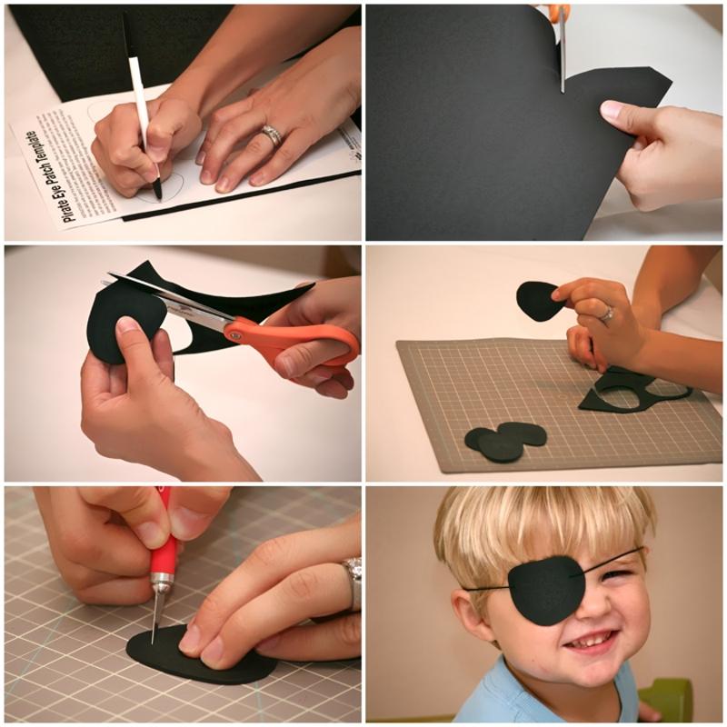 Изготовление пиратской повязки на глаз