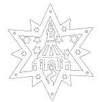 Фото 30: Вытынанка рождественской звезды Давида с рисунком