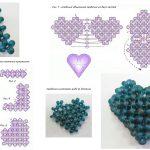 Фото 61: Схема изготовления сердечек из бисера